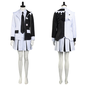 Danganronpa Shirt Skirt Uniform Outfit Monokuma Halloween Carnival Suit Cosplay Costume