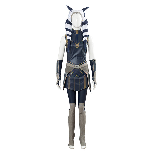 Star Wars: Clone Wars Season 7 Women Girls Outfit Ahsoka Tano Cosplay Costume Halloween Carnival Costume
