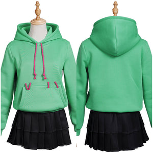 Ralph Breaks the Internet Women Girls Hoodie Skirt Outfit Vanellope von Schweetz Halloween Carnival Costume Cosplay Costume