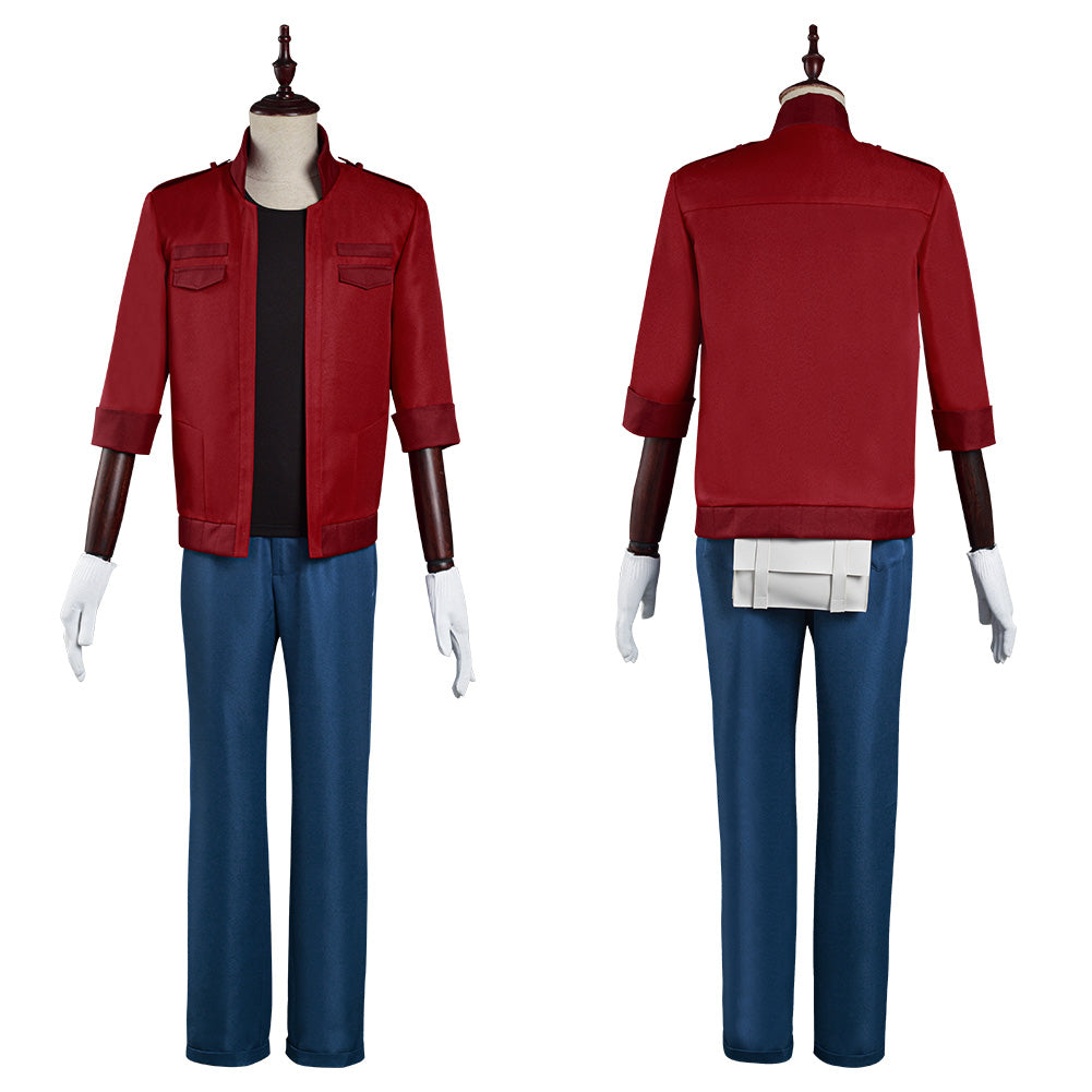 Cells at Work! Coat Pants Outfit Code Black/Hataraku Saibou Black -Sekkekkyuu /Red Blood Cell Halloween Carnival Suit Cosplay Costume