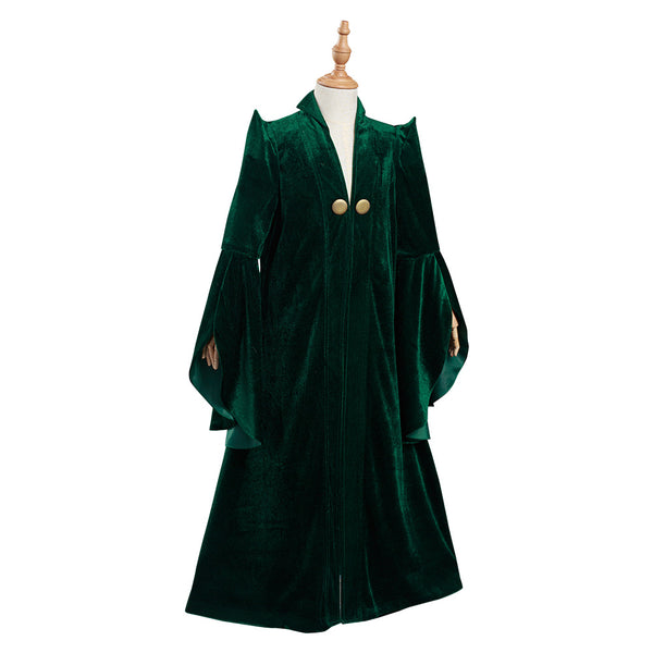 Harry Potter Kids Children Robe Coat Minerva McGonagall Halloween Carnival Suit Cosplay Costume