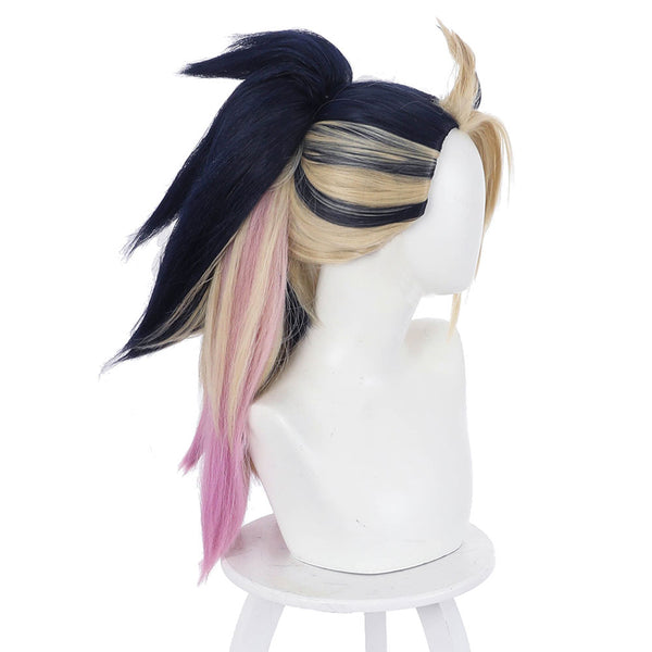 League of Legends LOL KDA Groups Akali Carnival Halloween Party Props The Rogue Assassin Cosplay Wig