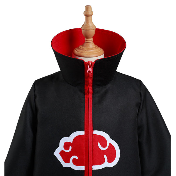 Naruto Akatsuki Kids Children Zip Up Coat Halloween Carnival Suit Cosplay Costume