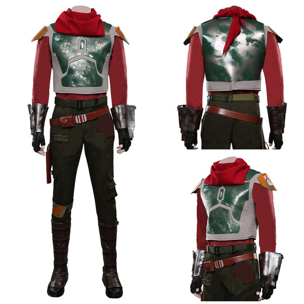 The Mandalorian S2 Top Pants Outfit Cobb Vanth Halloween Carnival Suit Cosplay Costume