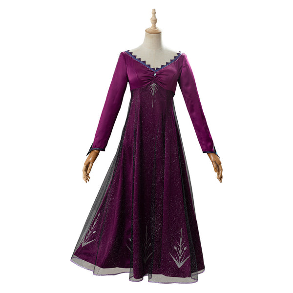 Frozen 2 Elsa Purple Dress Adult Outfit Cosplay Costume