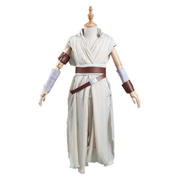 Star Wars: The Rise of Skywalker Kids Children Outfit Rey Halloween Carnival Suit Cosplay Costume