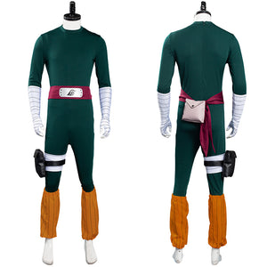NARUTO Jumpsuit Outfit Rock Lee Halloween Carnival Suit Cosplay Costume