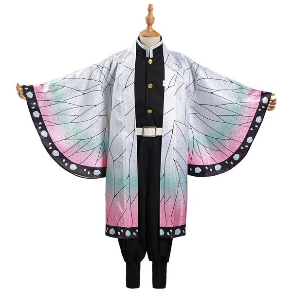 Demon Slayer: Kimetsu no Yaiba Kids Cloak Coat Kochou Shinobu Halloween Carnival Suit Cosplay Costume