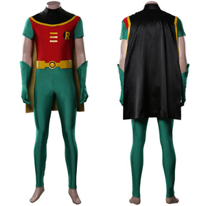 Teen Titans Jumpsuit Outfit Robin Halloween Carnival Costume Cosplay Costume