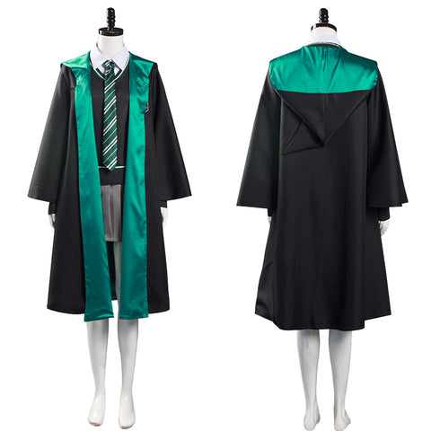 Harry Potter Women School Uniform Outfit Slytherin Halloween Carnival Suit Cosplay Costume