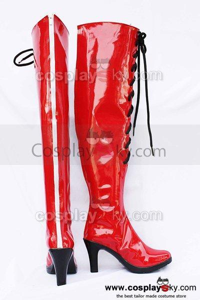 Vocaloid Meiko Red Cosplay Boots Shoes Custom Made