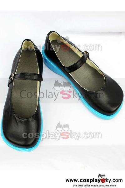 Vocaloid Miku Black Cosplay Shoes Custom Made