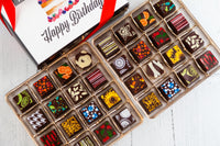 Queen Size Happy Birthday Chocolate Art Box