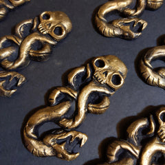 Skull and Snake Brooch Pin