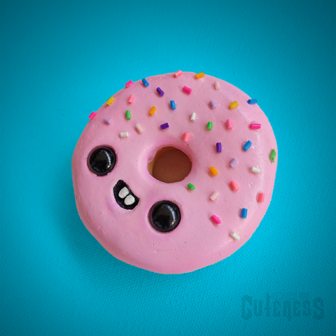 Pink Donut With Sprinkles Wall Art