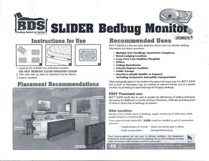 Bed Bug Slider / Monitor