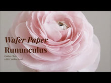Load and play video in Gallery viewer, Ranunculus Wafer Paper Flower - Online Course