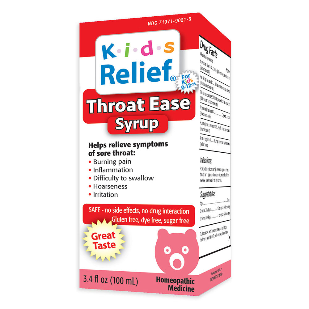 Kids Relief Throat Ease Syrup for Kids 0-12 Years