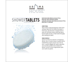 Load image into Gallery viewer, AromaHouse Shower Tablets & Shower Bomb with 3 Effervescent Tablets, Soothing Non-Medicated(1 pack)