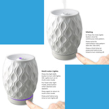 Load image into Gallery viewer, AromaHouse Aromavase Ultrasonic Ceramic Essential Oil Diffuser for Essential Oils and Fragrances Cool Mist Humidifier with Auto Shut-Off (White)