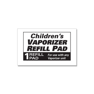 Kids Relief Waterless Vaporizer Refill Pads with 5 Soothing Non-Medicated Menthol Eucalyptus Vapor Refill Pads