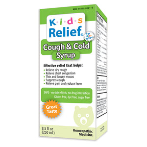 Kids Relief Cough & Cold Syrup for Kids 0-12 Years (250ML)
