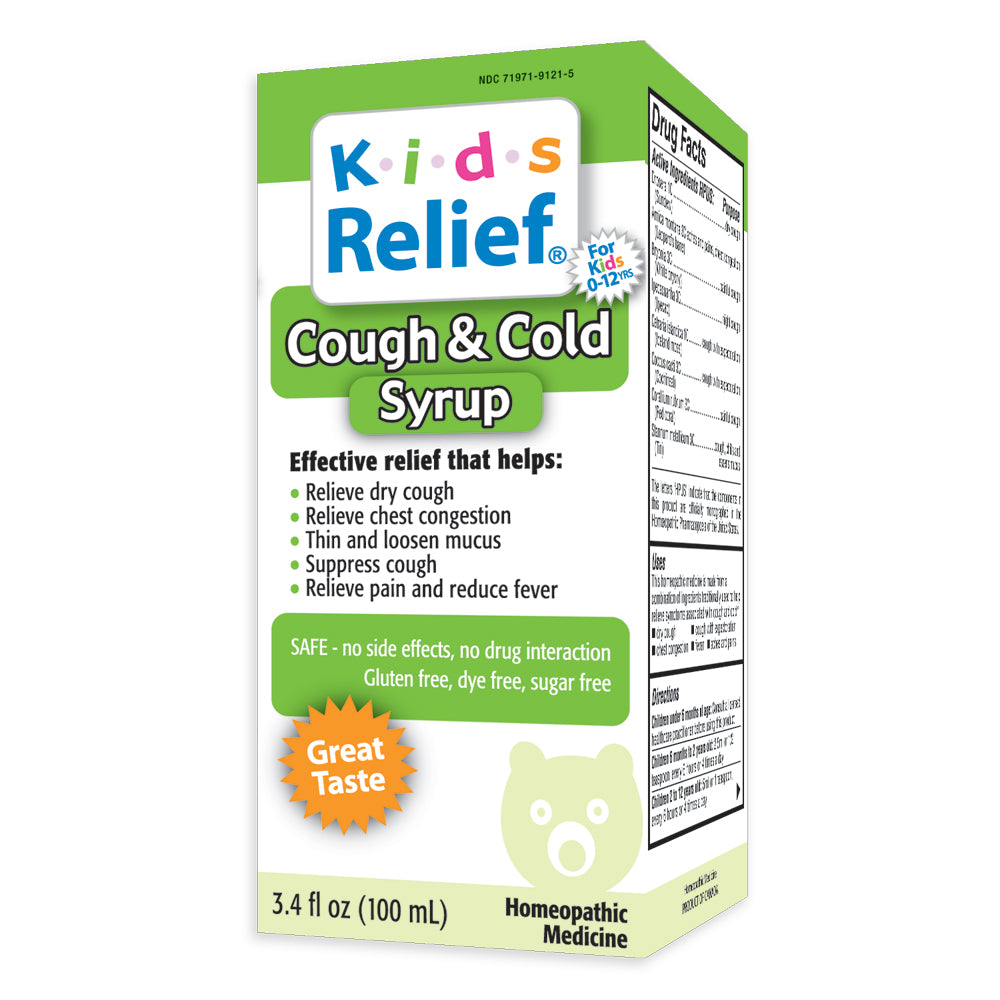 Kids Relief Cough & Cold Syrup for Kids 0-12 Years