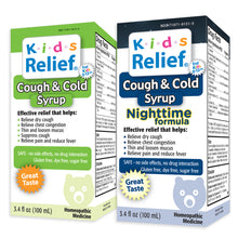 Load image into Gallery viewer, Kids Relief Cough & Cold Syrup Combo Daytime & Nightime Formula for Kids 0-12 Years
