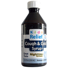 Load image into Gallery viewer, Kids Relief Cough & Cold Nighttime Syrup for Kids 0-12 Years (250ML)