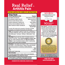 Load image into Gallery viewer, Real Relief Arthritis Pain Symptom Relief Tablets