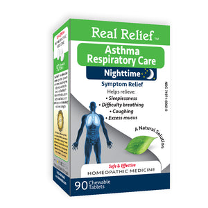 Real Relief Asthma Respiratory Care Nighttime Tablets