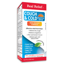 Load image into Gallery viewer, Real Relief Cough & Cold Daytime Syrup Non Drowsy Formula