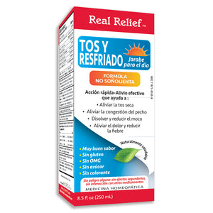 Real Relief Cough & Cold Daytime Syrup Non Drowsy Formula