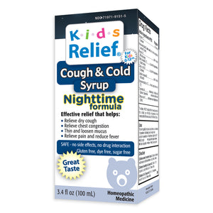 Kids Relief Cough & Cold Nightime Syrup for Kids 0-12 Years