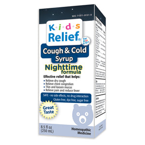 Kids Relief Cough & Cold Nighttime Syrup for Kids 0-12 Years (250ML)