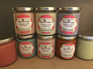 Pure Soy Candles 9oz jars