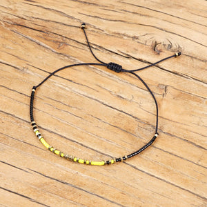 Blue and Yellow Bracelet Set