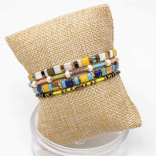 Load image into Gallery viewer, Blue and Yellow Bracelet Set