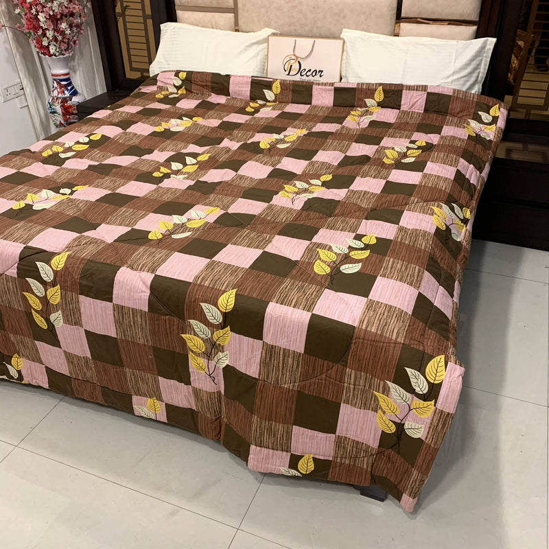 PURE DECOR SNOOZE COLLECTION PURE COTTON REVERSIBLE DOUBLE BED BLANKET / AC COMFORTER (221 X 236 CMS) A-940