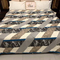 PURE DECOR SNOOZE COLLECTION PURE COTTON REVERSIBLE DOUBLE BED BLANKET / AC COMFORTER (221 X 236 CMS) A-941