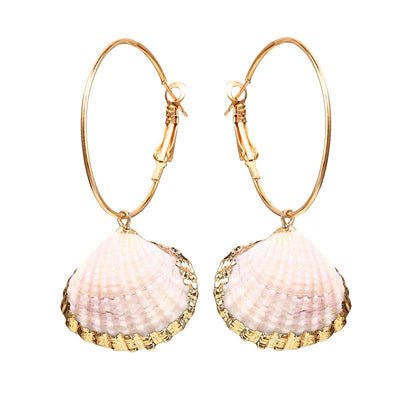 Boucles d'Oreilles Coquillage Bucarde | Coquillages Boutique