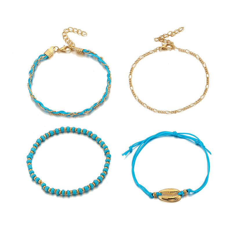 Bracelet Cheville Perle Coquillage