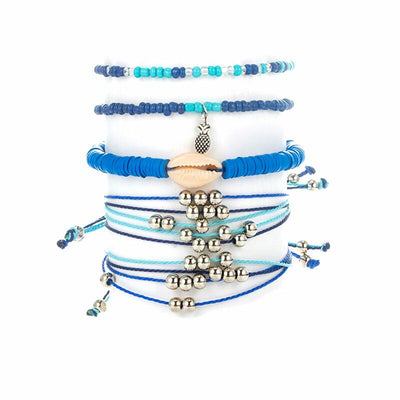 Bracelet Coquillage Bleu | Coquillages Boutique