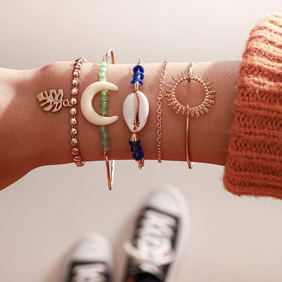 Bracelet Or Coquillage