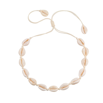 Collier Cauris Blanc