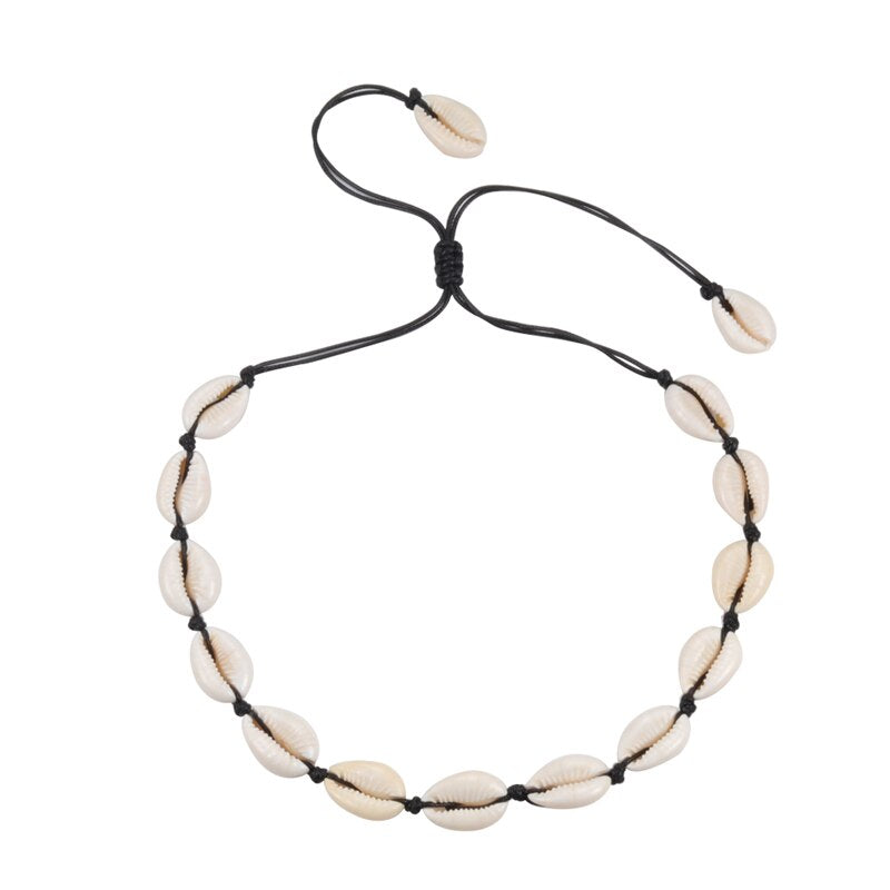 Collier Cauris Blanc | Coquillages Boutique