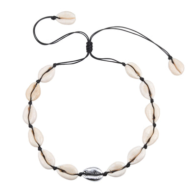 Collier Coquillage Blanc et Argenté | Coquillages Boutique