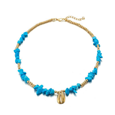 Collier Coquillage Bleu | Coquillages Boutique