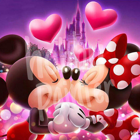 Mickey en Minnie Mouse diamond painting