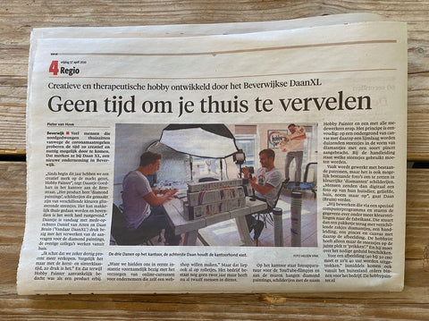 Hobby Painter in de krant